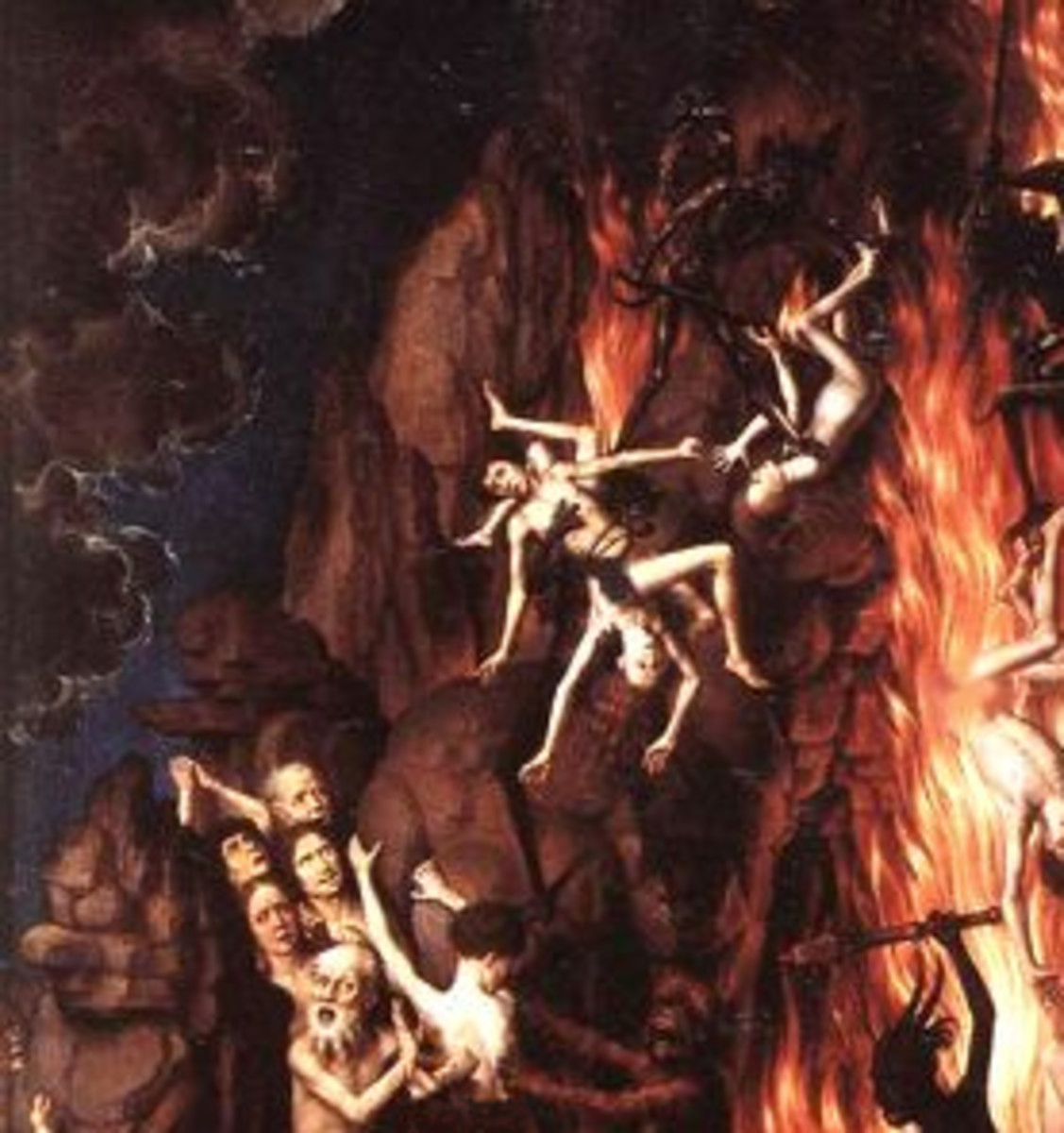 "Artistic rendering of hell, based on ""eyewitness"" accounts"