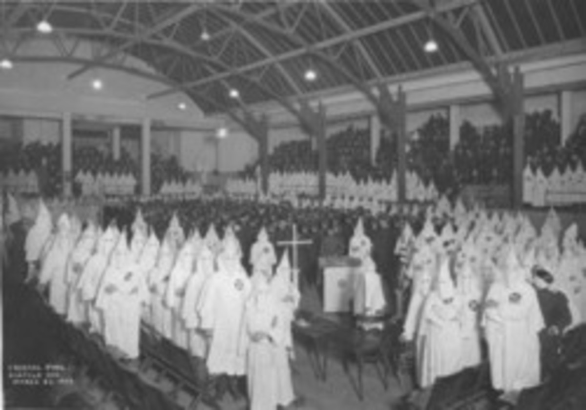 the KKK  which preaches hate in the name of Jesus