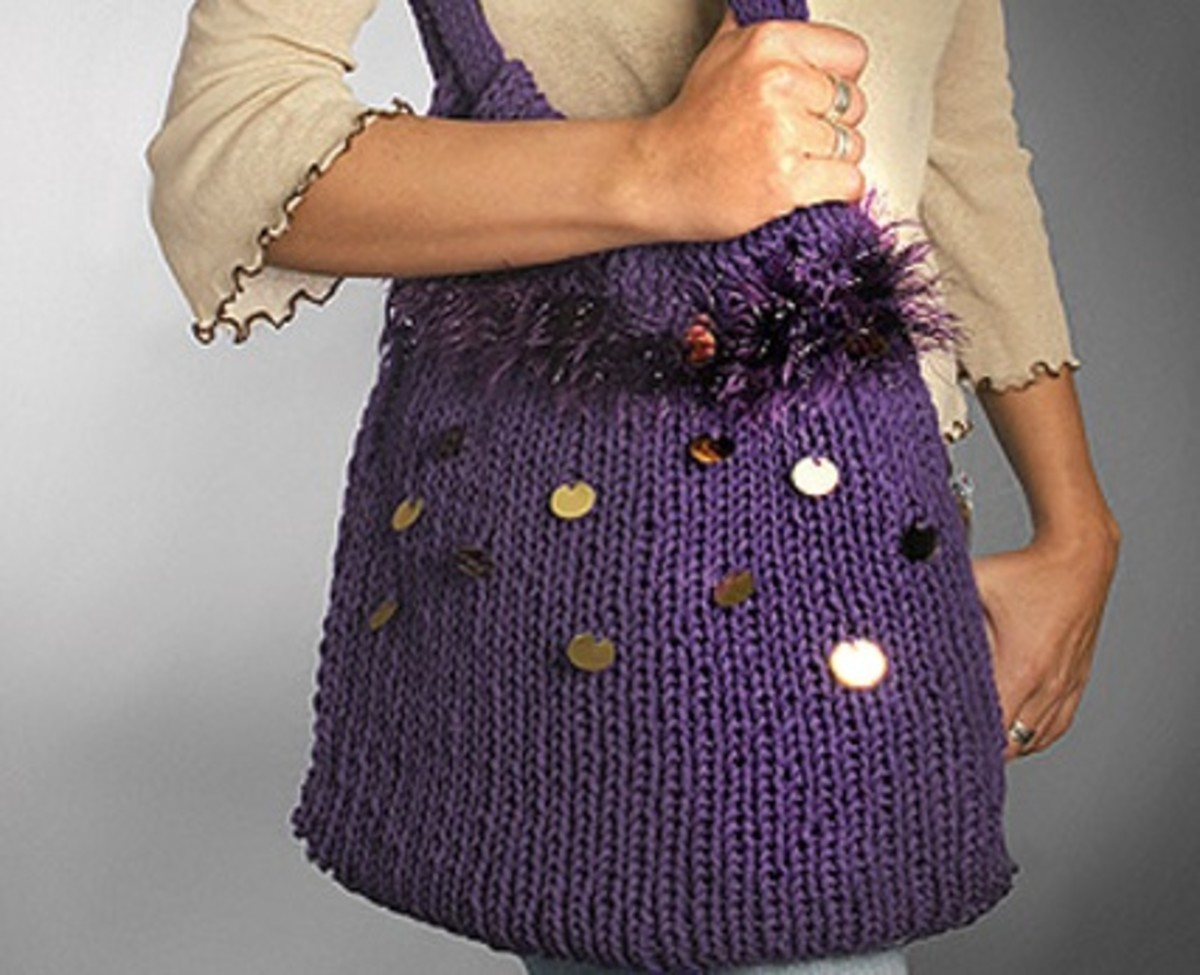 big purple bag