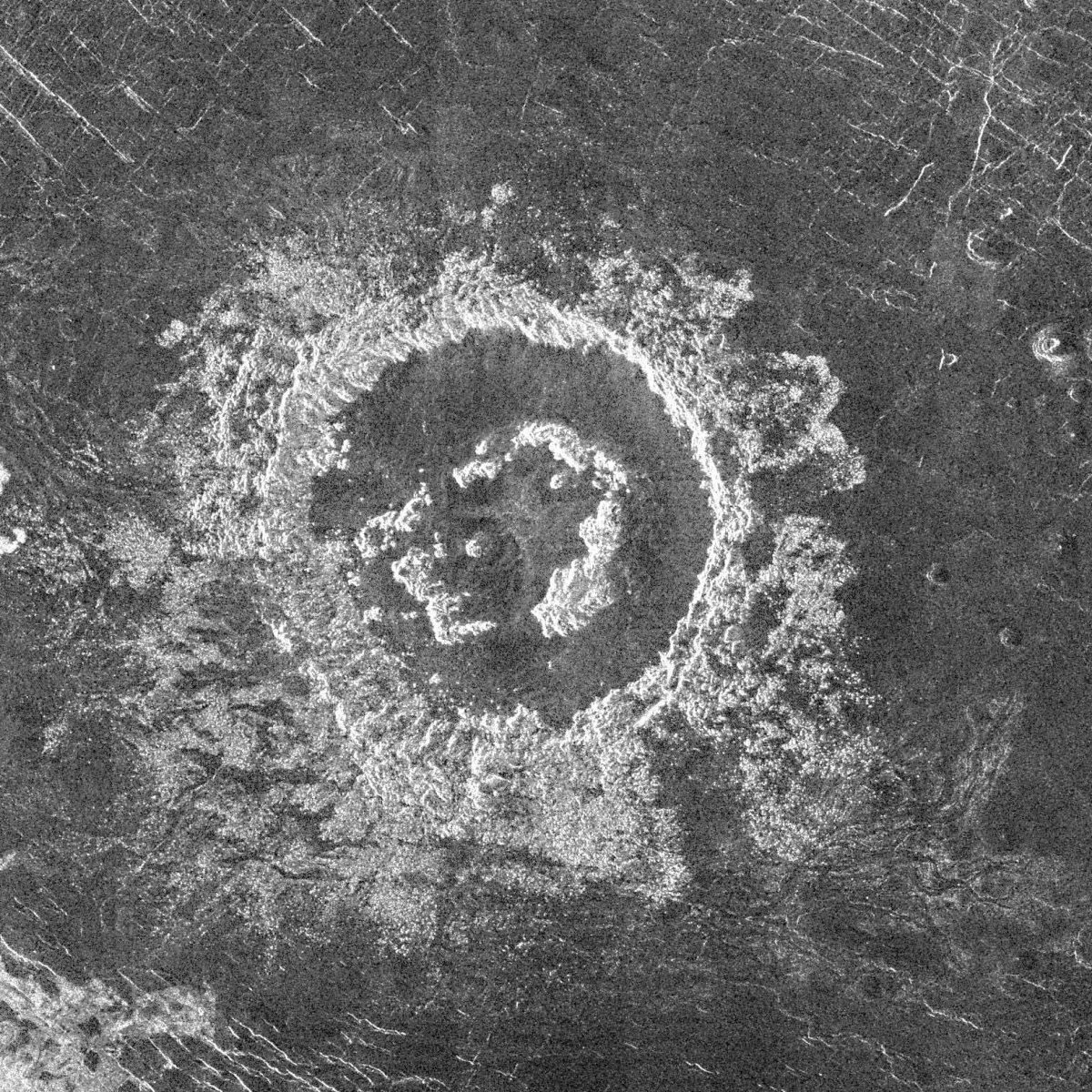 The Barton Crater on Venus