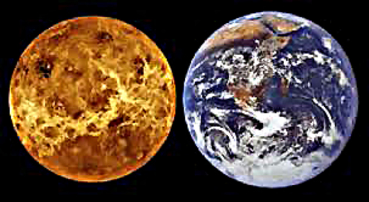 Size comparison of Venus and Earth, illustrating just how similar these two planets are in physical dimensions. Their mass and gravity are also comparable