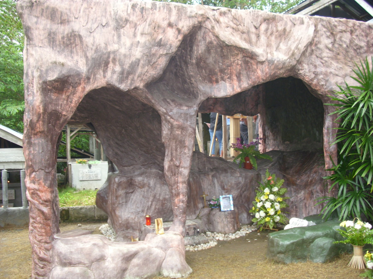 A Cave form  grave of my friends'  husband.