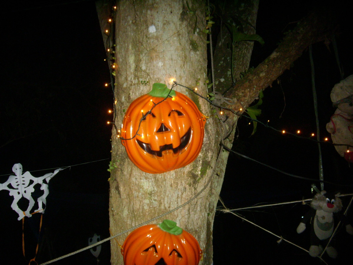 Halloween decoration at friends party.
