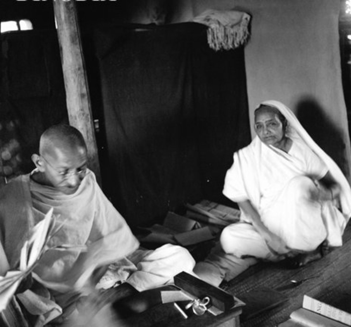 Mahatma Gandhi y Kasturba