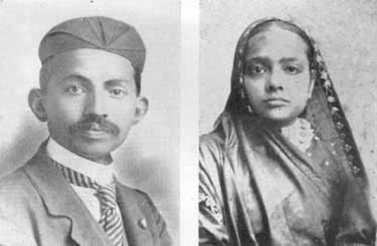 Mohandas Gandhi y Kasturba Gandhi