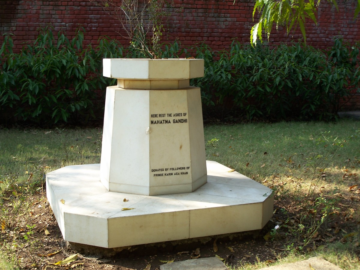 Cenizas de Mahatma Gandhi