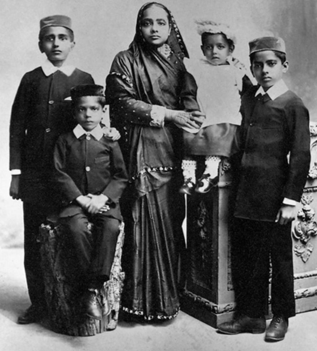 Cuatro hijos de Mohandas Gandhi y Kasturba Gandhi
