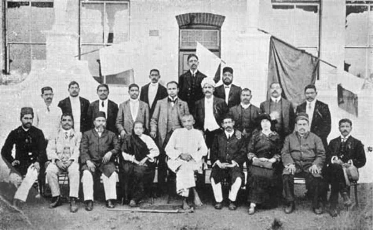 La última fotografía de Mahatma Gandhi en Sudáfrica - 1914