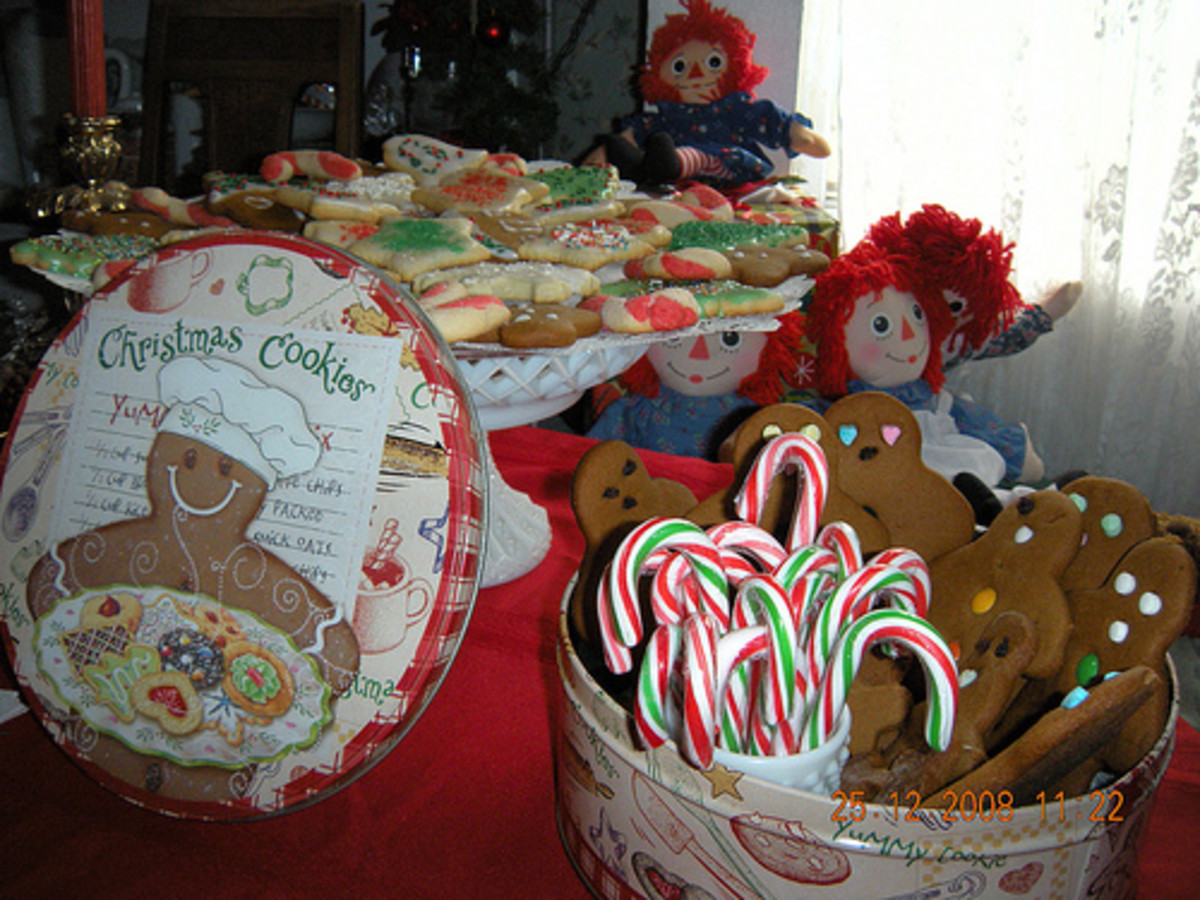 A lovely Christmas table display