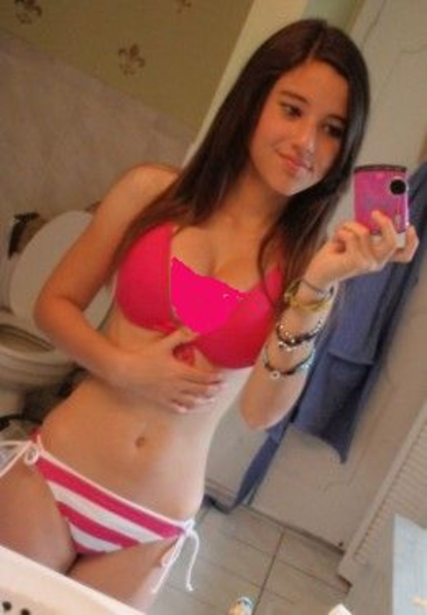 original photo of Angie Varona, aged 14, in a bikini - I have touched the photo up a bit to prevent embarrassment to her.