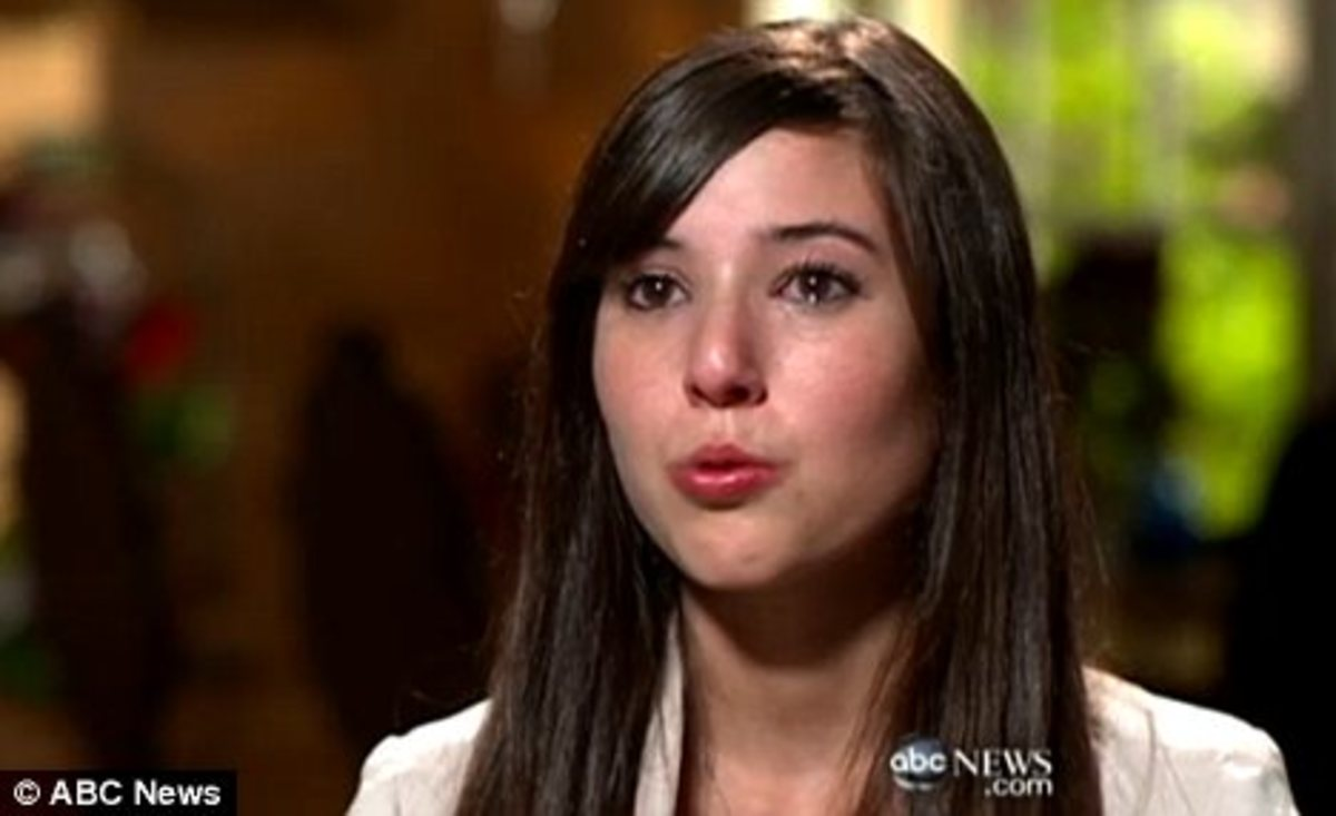 Angie Varona in tears on a recent ABC News.com interview