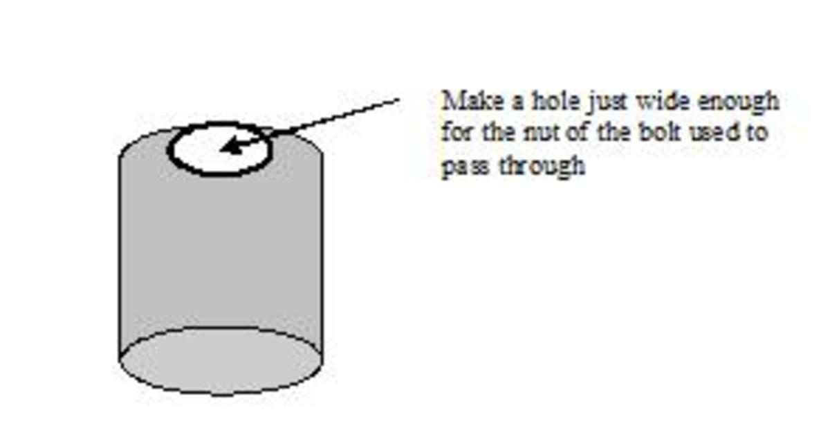 Make a Hole for the Nut and Bolt