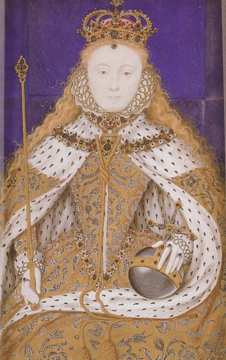 Another version of the Coronation Gown, ruff is made more apparent in this gown, notice the Tudor Rose, so that Elizabeth is showing her heritage in this gown