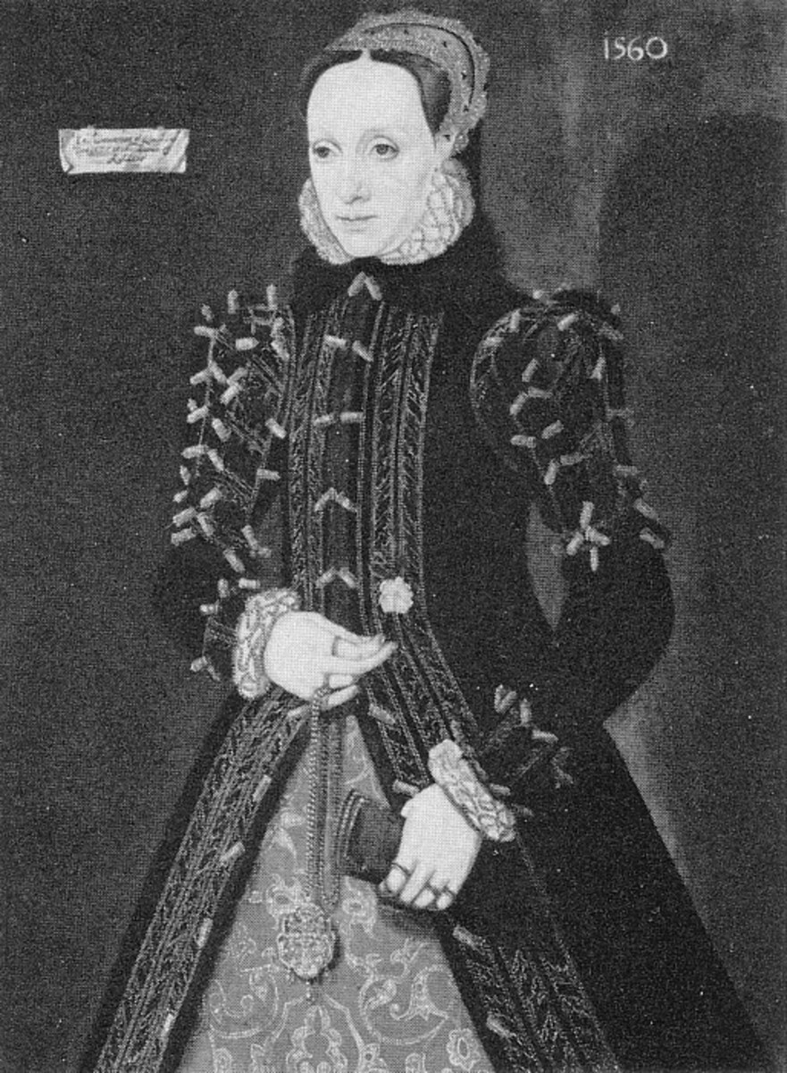 While this is an Scotts lady, I think it is still a prime example of the English Fitted Gown, so popular during this time period.