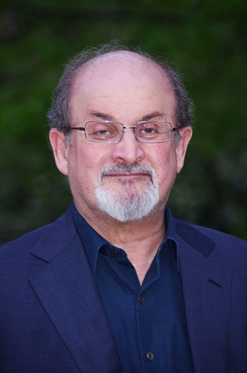 Salman Rushdie, a Mulsim-born Indian author.