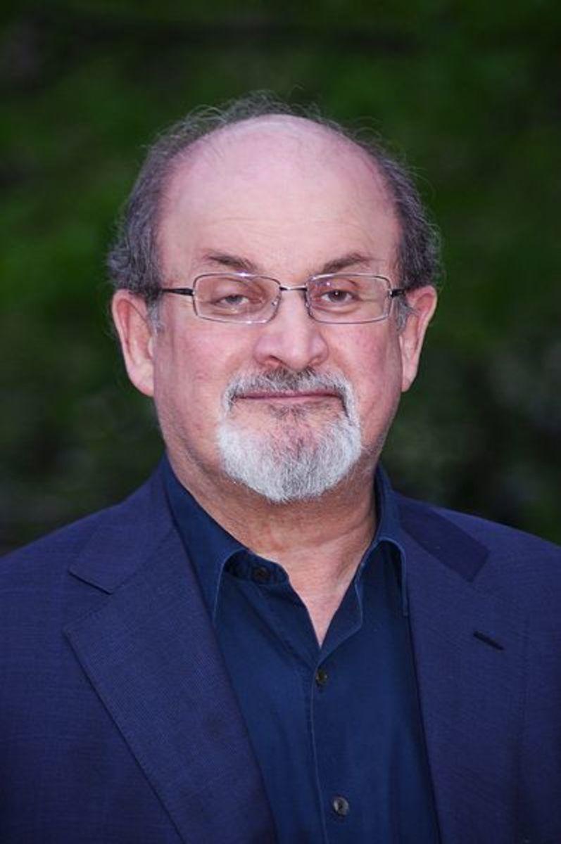 Salman Rushdie, a Mulsim-born Indian author.