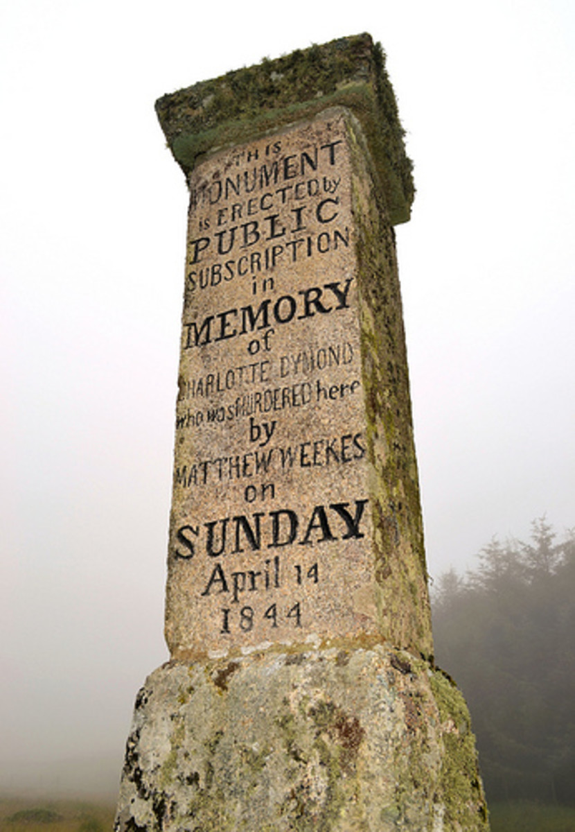 The memorial to Charlotte Dymond at Roughtor