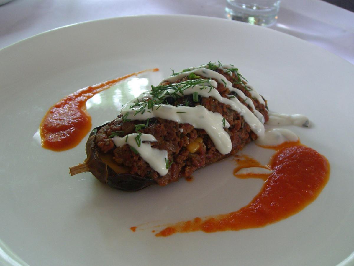 Degustation experience - Karniyarik eggplant stufed with minced lamb