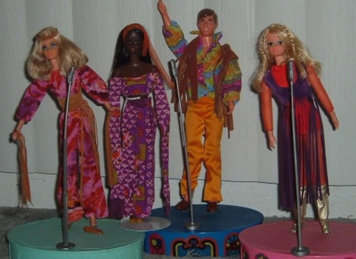Live Action Barbie, Christie, Ken and P. J.