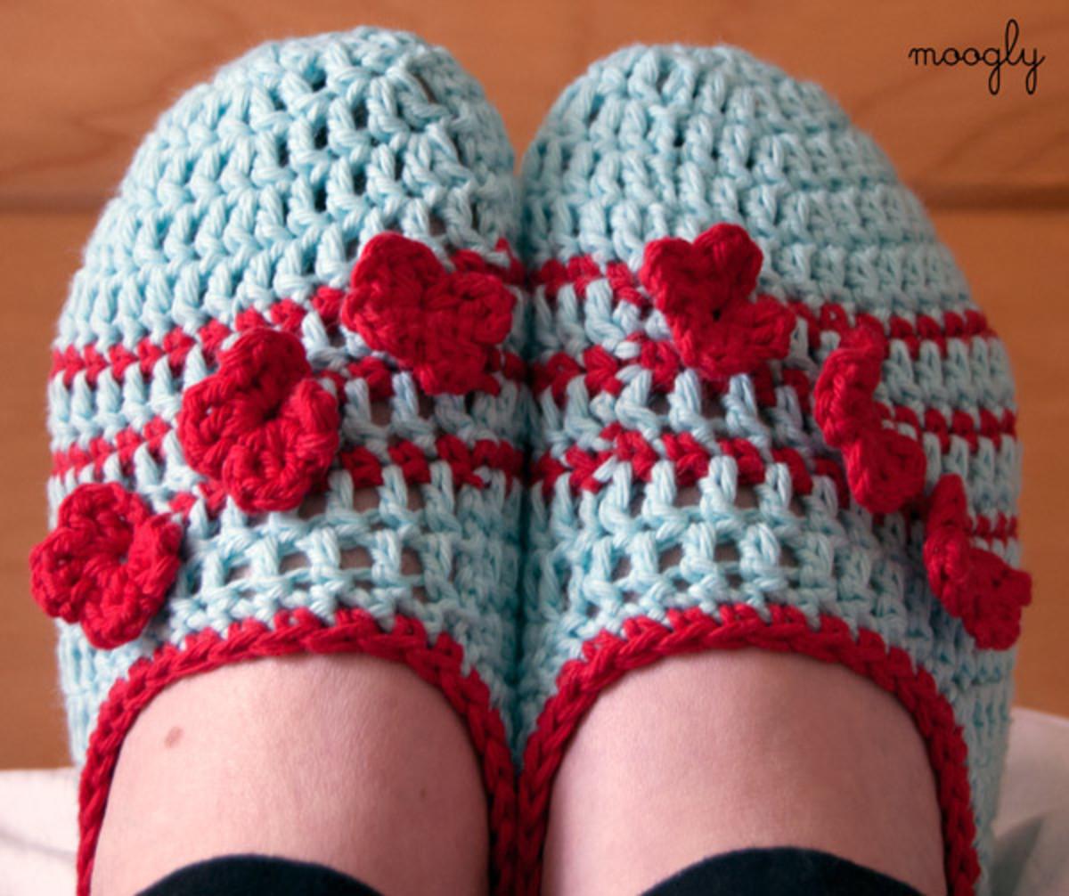 Crochet Posy Toe Slippers