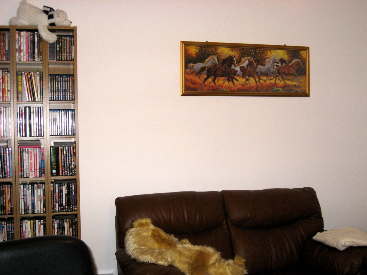 Look how The Horses changed my living room and filled that empty white space on the wall