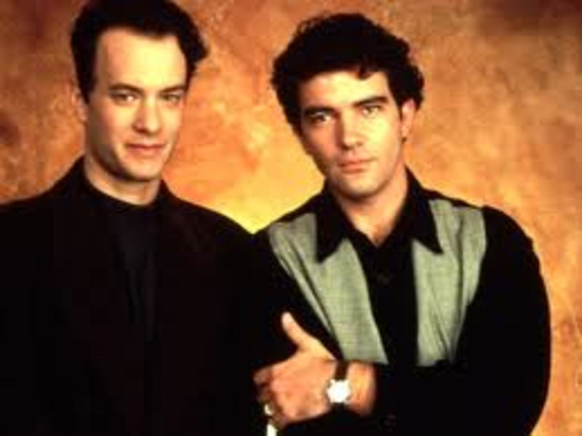 Tom Hanks as Geoffry Bowers with Antonio Banderas as   Miguel Alvarez