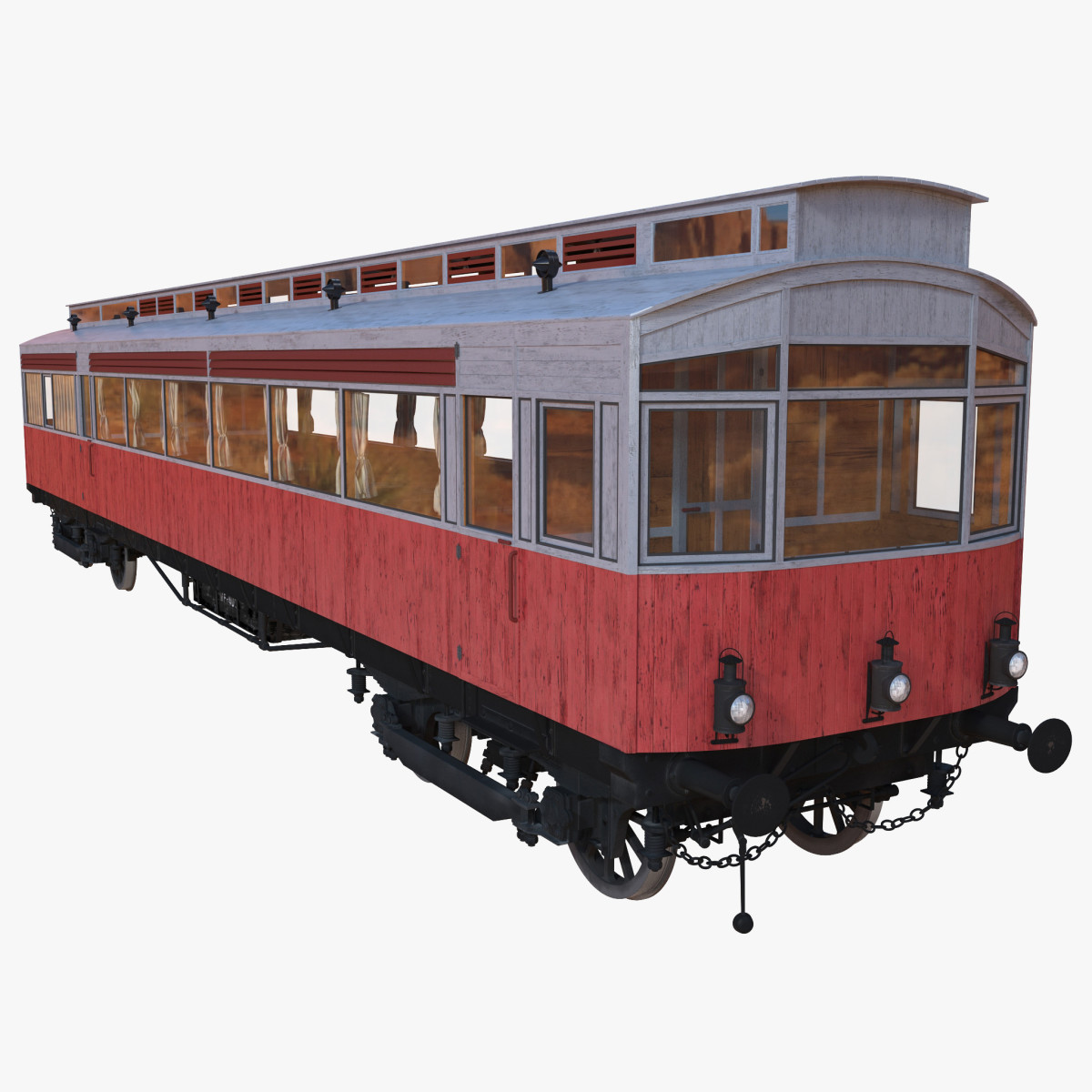A computer-created image of the 1903 Petrol-electric Autocar currently in the course of being restored - see also ROPFAMR 24: Autocars, Autocoaches etc