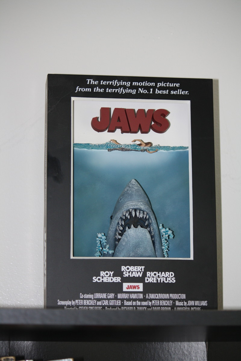 A dimensional version of the iconic poster for the 1975 classic JAWS.