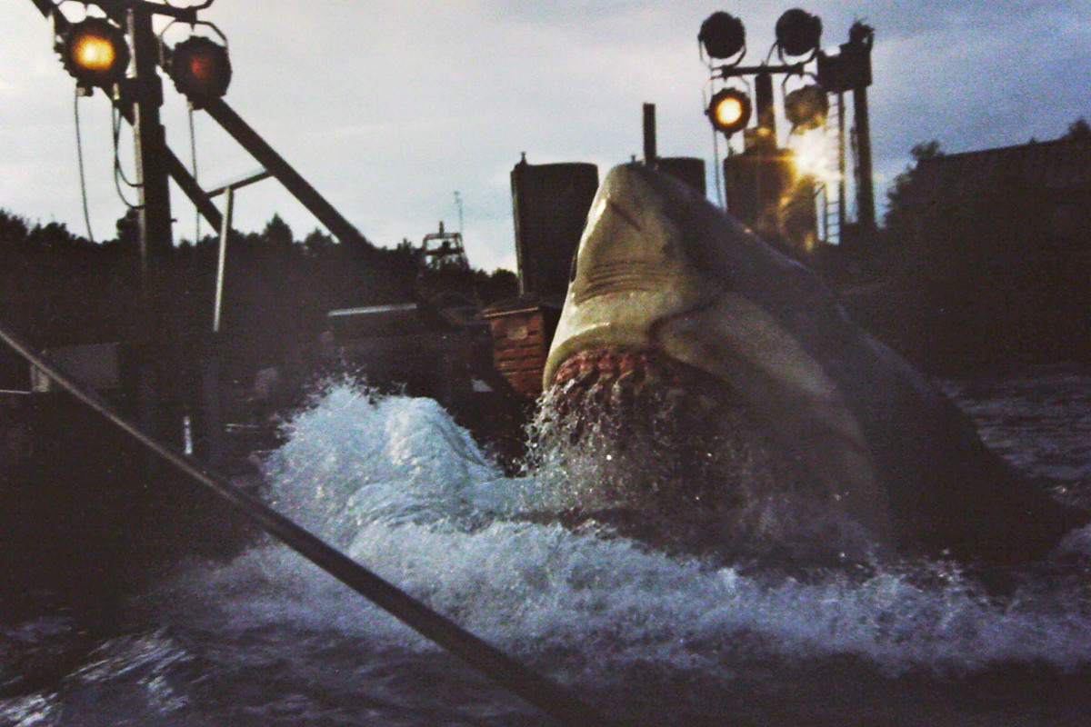 The monstrous shark from the Universal Studios Florida JAWS ride. Not Bruce, but always fun.