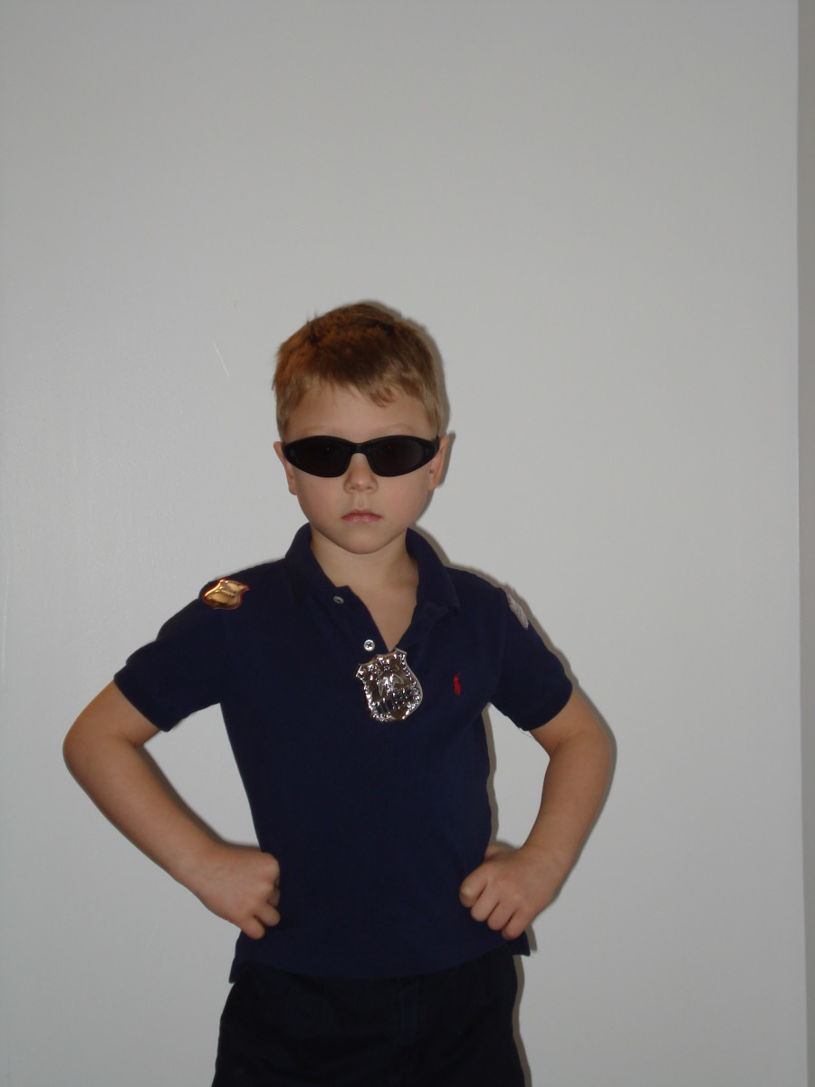 My nephew Marco as a police man.