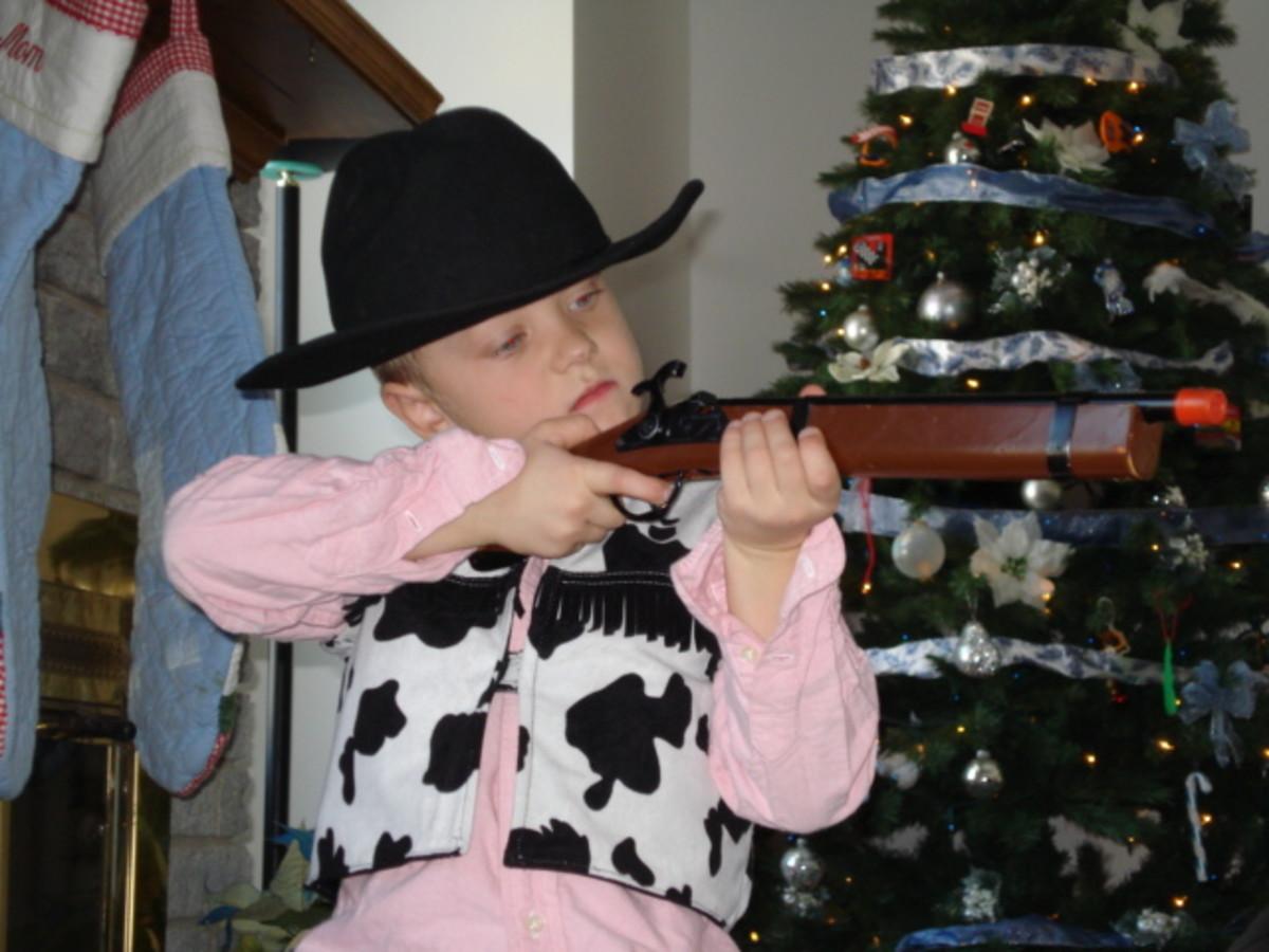 Marco as a cowboy.