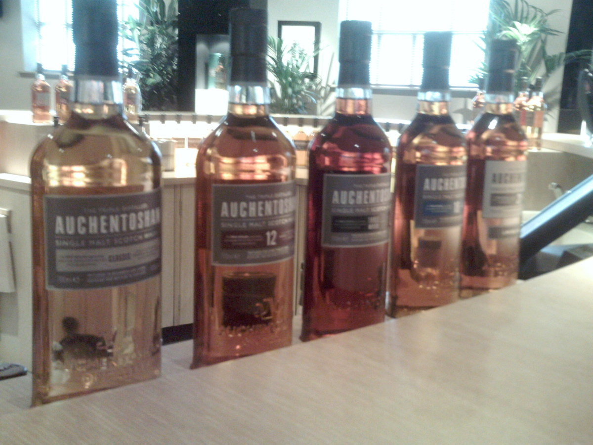 The Range available from Auchentoshan: Classic, 12 year old, 18 year old, Three Wood, and limited edition 2011 Vallinch Cask Strength