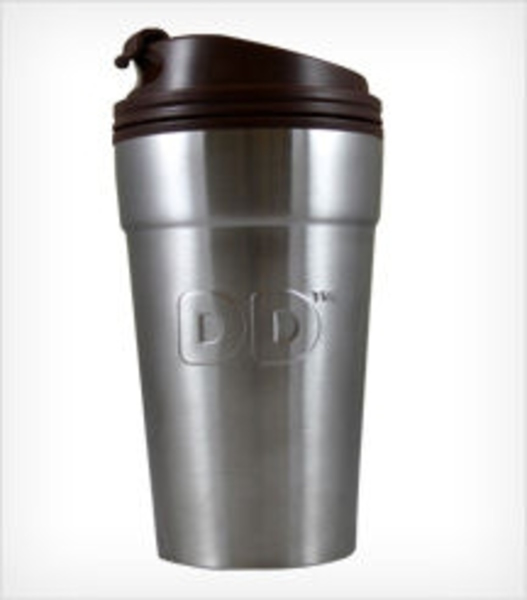 Dunkin' Donuts stainless steel mug