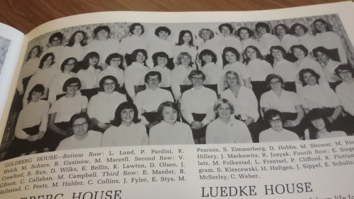 As a senior, we had social functions with the coeds from  Goldberg House who lived in Schlicter Hall