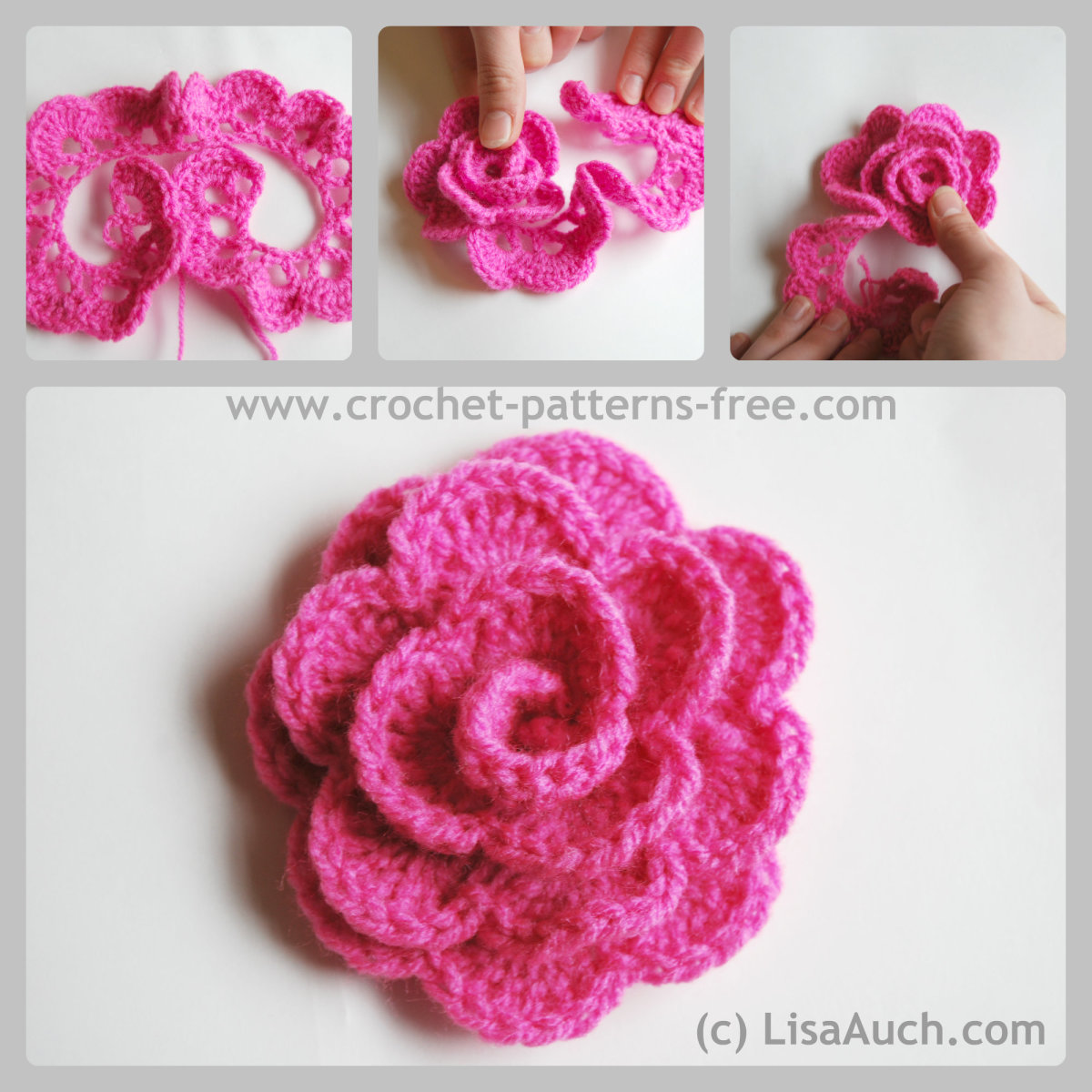 Free Crochet Flower Patterns- Crochet Rose