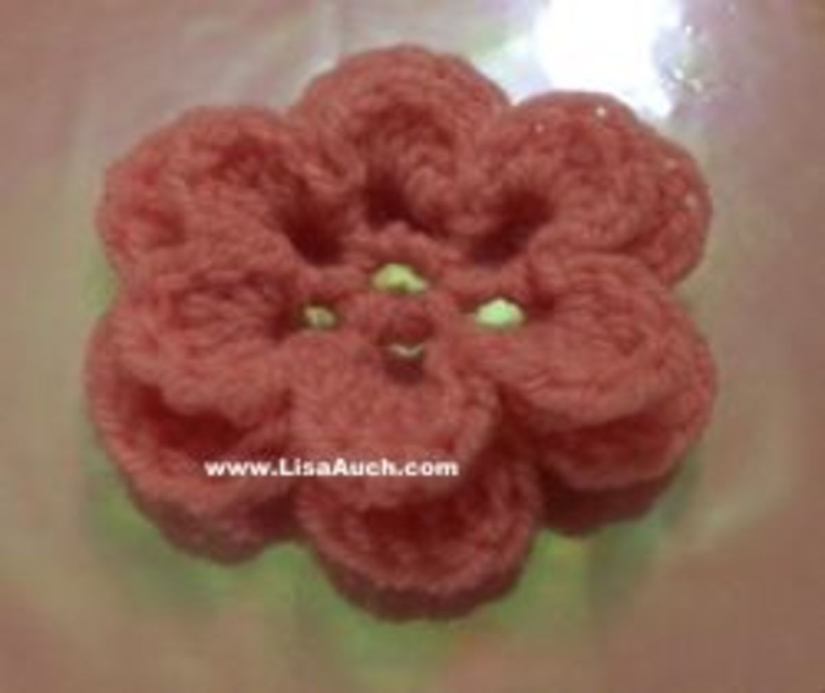free crochet flower patterns-crochet flowers