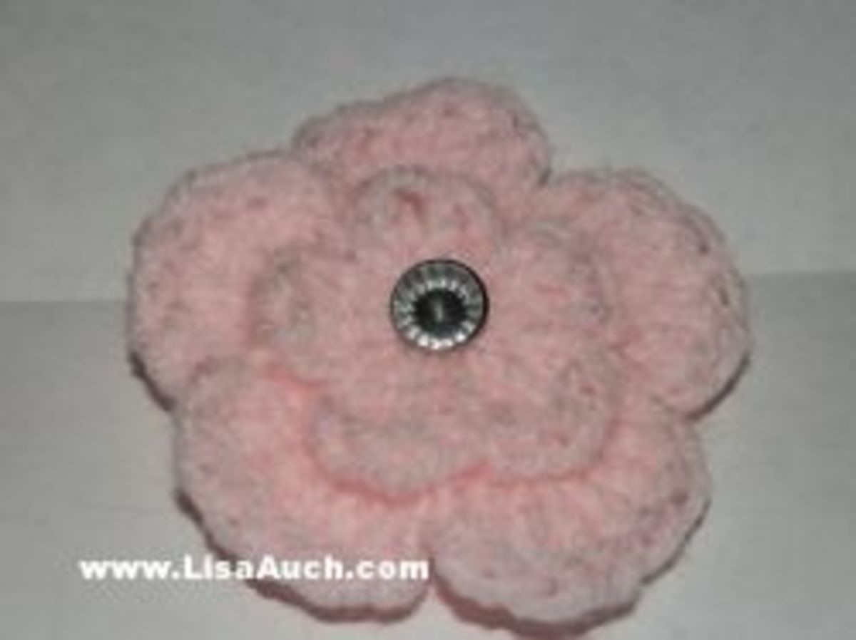 Layered crochet flower
