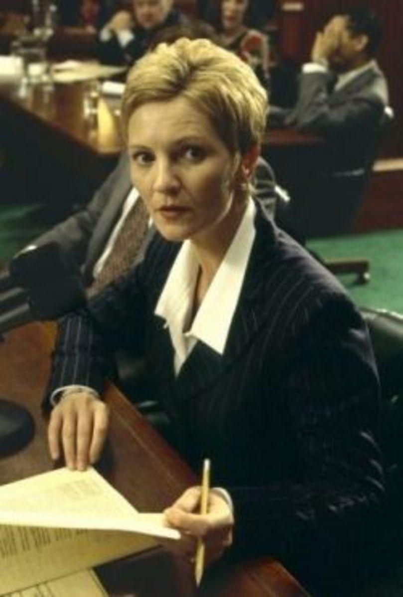 Laine Hanson (Joan Allen) Atheist
