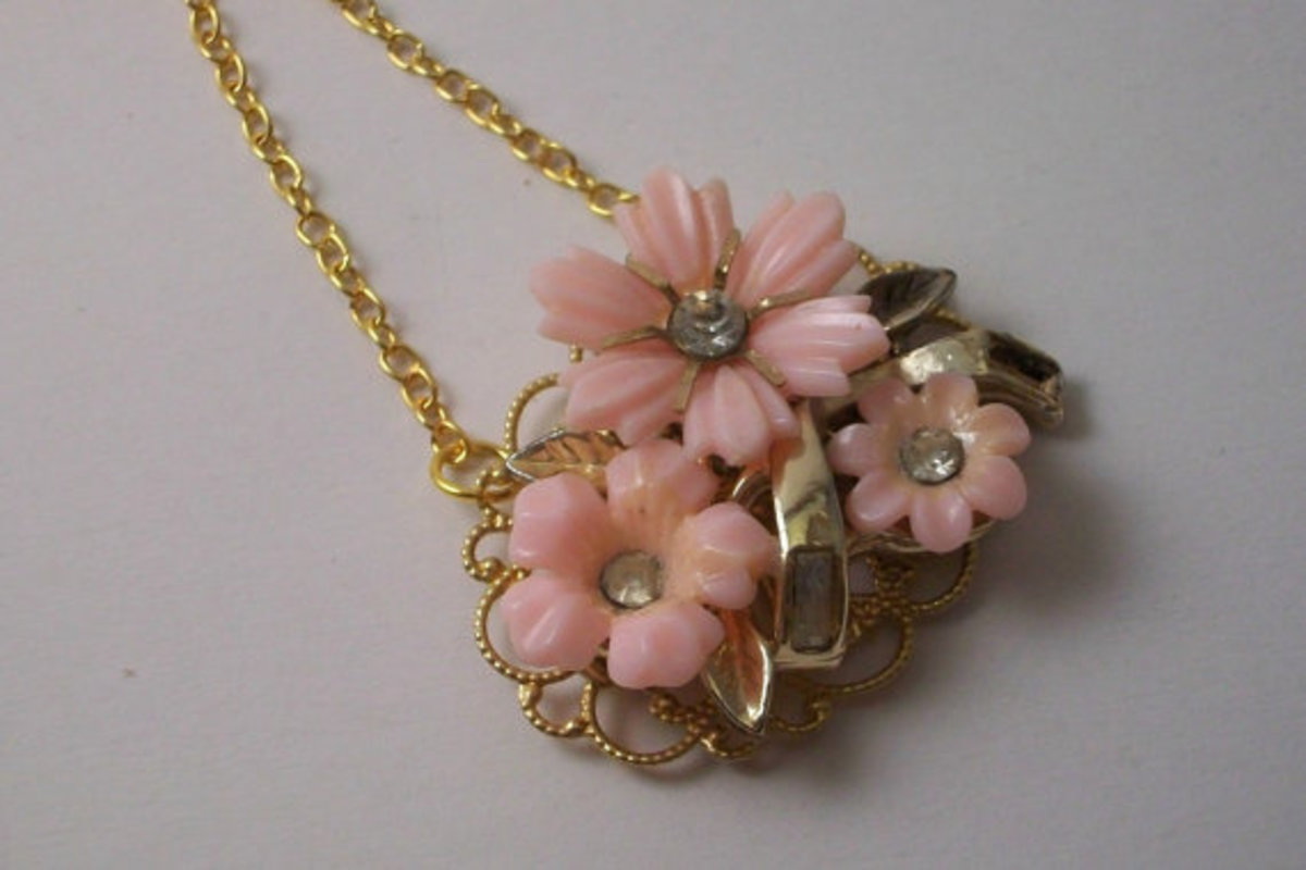 Trash To Treasure Necklace Secret Garden OOAK