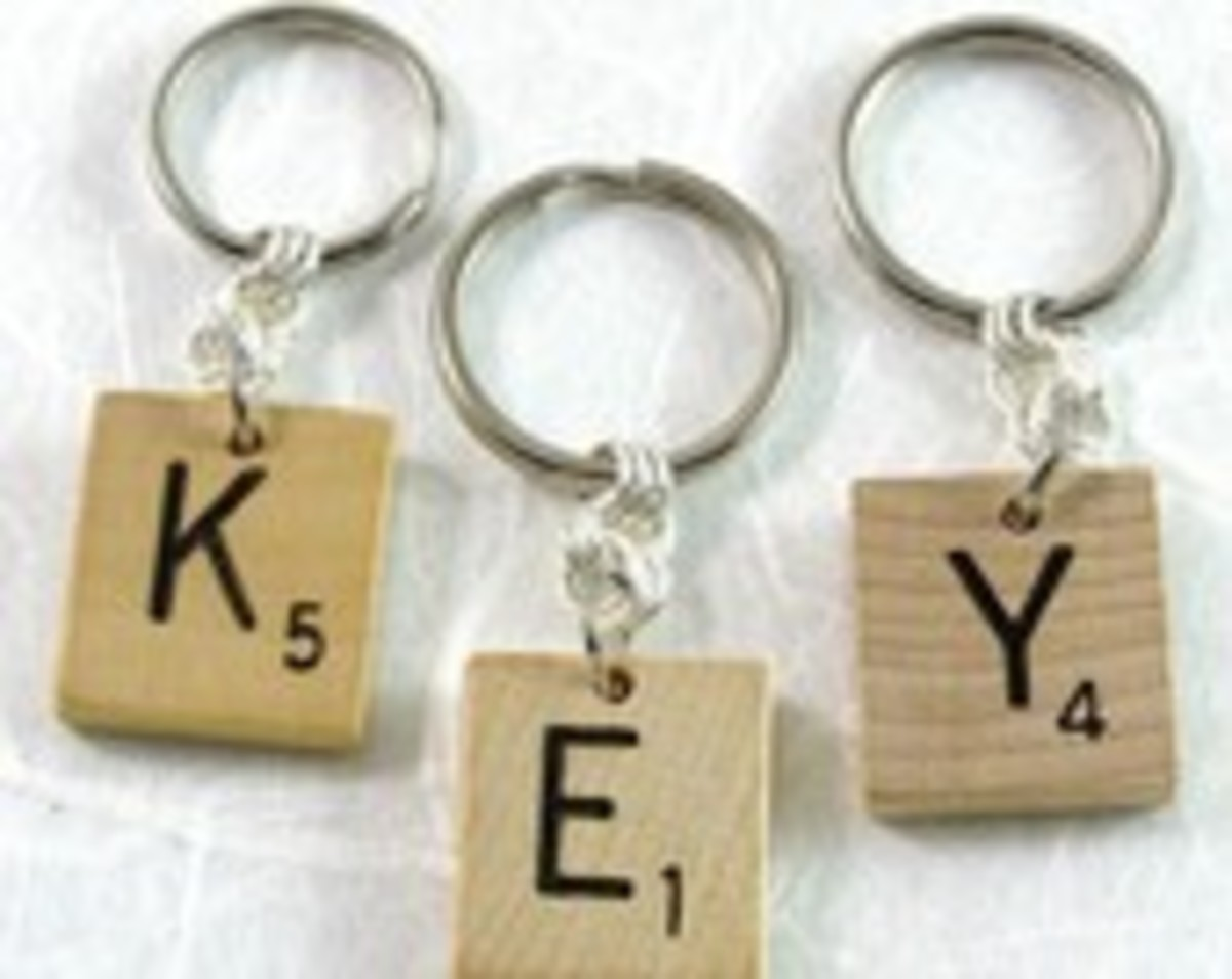 Scrabble key chain