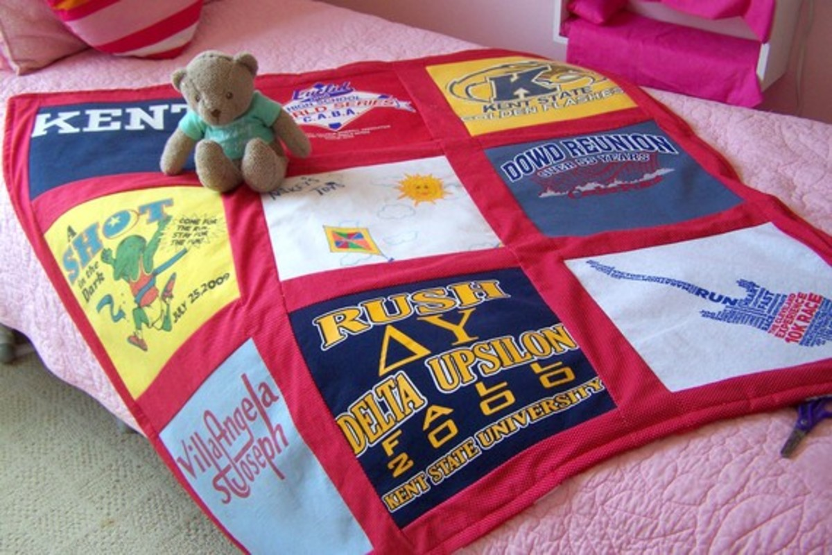 T-Shirt Quilt Blanket - Custom Made - 9 Block Design