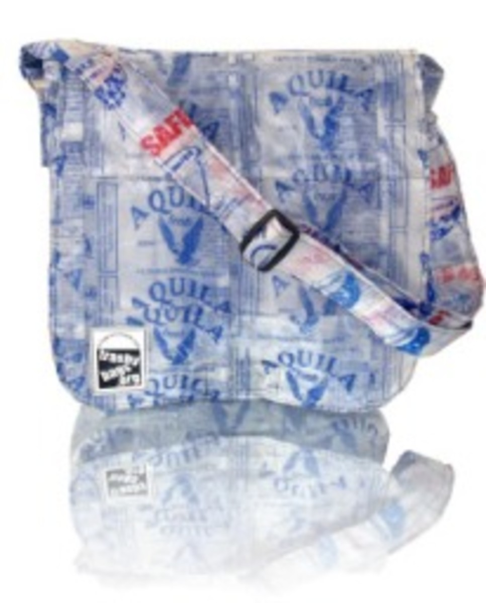 Trashy Bags made from little plastic bags or sachets.