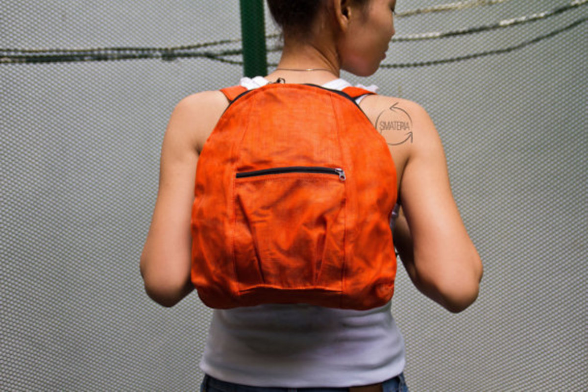 Smateria Recycled Mosquito Net Orange Backpack