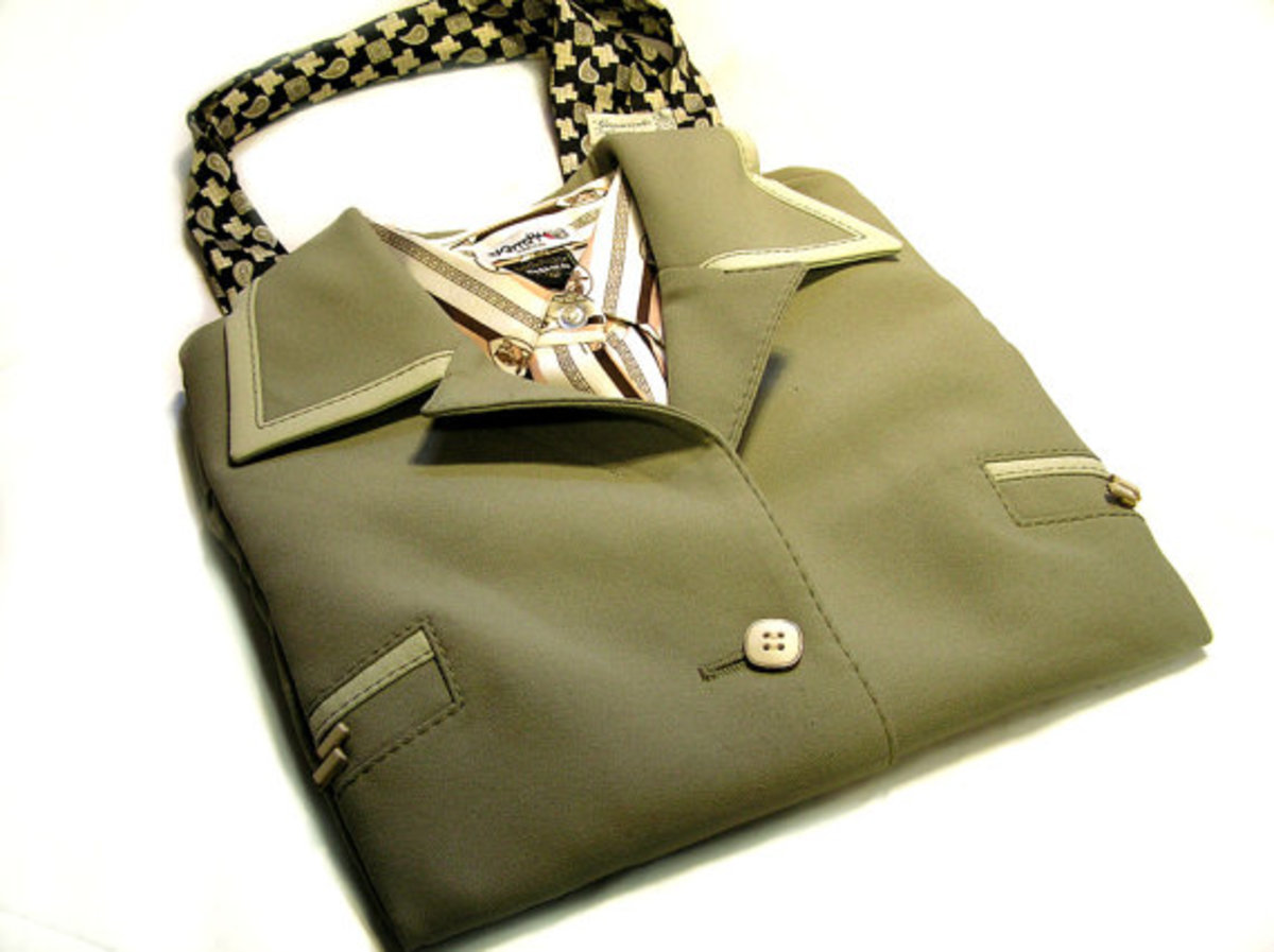 VENEZIA - 100% Recycled Upcycled Suit Tote Bag