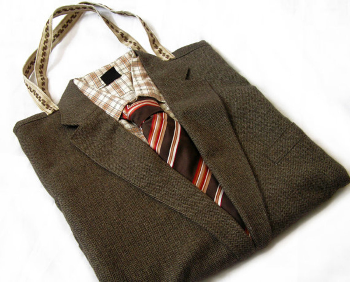 DOLLY - 100% Recycled Upcycled Suit Tote Bag