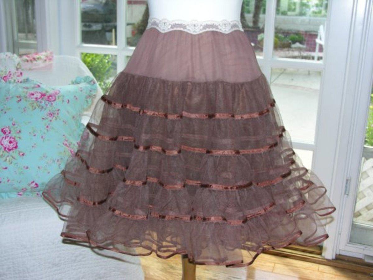 UPCYCLED PETTICOAT Slip Skirt