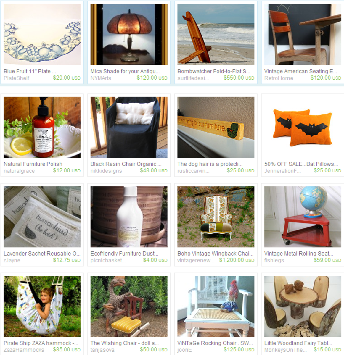 teamecoetsy furniture on Etsy