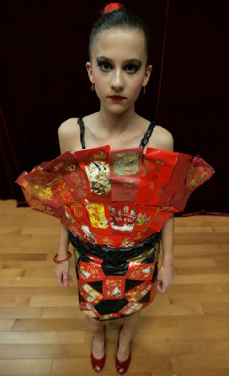 Designed by students from Renaissance College, made from discarded Chinese Lai See packets.