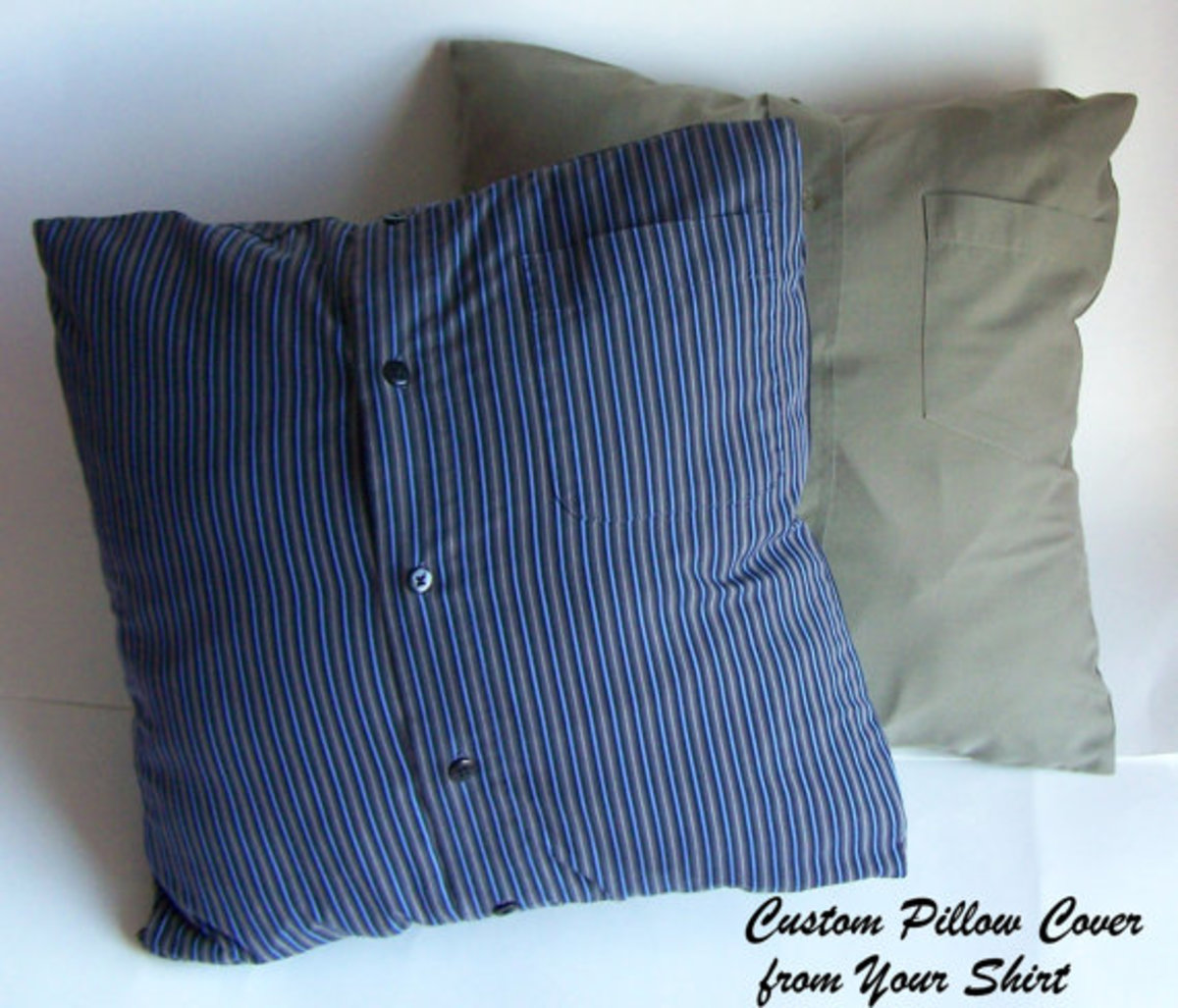 Memory Pillow Made from Upcycled Men's Shirt