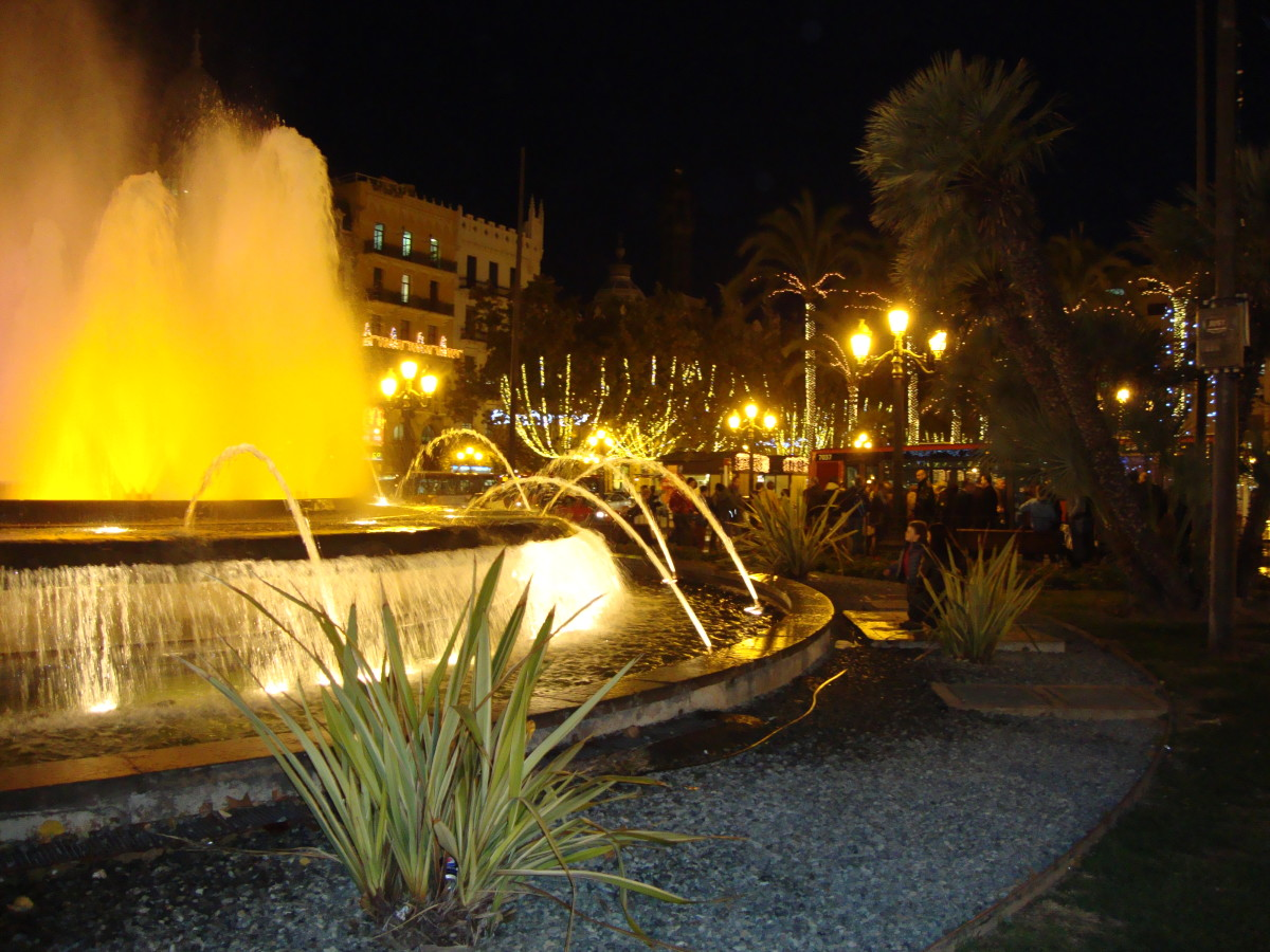 Fountain at Plaza del Ayuntamiento